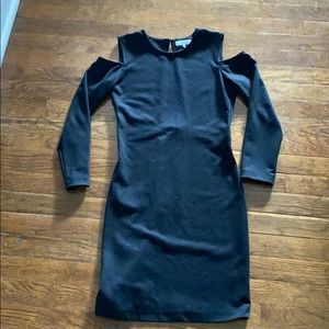 Parker black cold shoulder dress size S